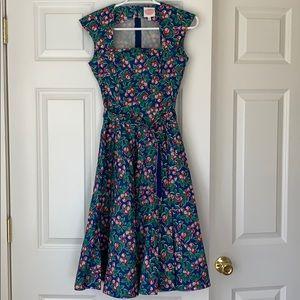 ModCloth Emmy brand dress cherries print sz 2 EUC